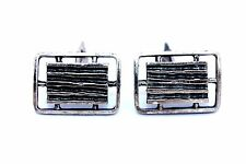 "BIG 1""+ Vtg CANADIAN Modernist GUY VIDAL Silver Pewter BRUTALIST Cufflinks"