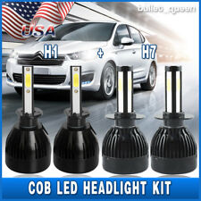 4x H1 H7 Combo LED Headlight Kit for BMW X5 2005-2013 High Low Beam 6000K Bulbs