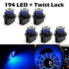 6x PC168 Instrument Panel Cluster Blue led Light Bulb Dash Sockets for Cadillac