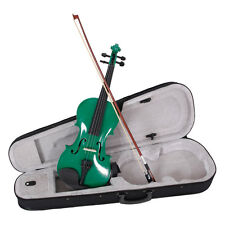 Brand New Green Color Perfect Violin/Fiddle Full Size 4/4 W/ Case & Bow & Rosin