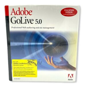 Adobe GoLive 5.0 for Windows Education VERSION Factory Sealed in Box