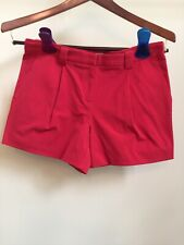 NWT LANDS END Cherry Red Cotton Stretch Pleated Chino Shorts Hiking Outdoors 4