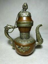 More details for mid 20th century tibetan buddhist ceremonial dragon aftaba ewer tea pot