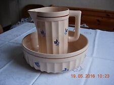broc et vasque anciens, ensemble de toilette DIGOIN & SARREGUEMINES