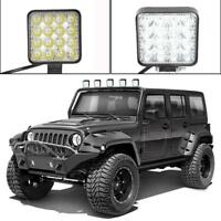 Square 48W LED Flash Strobe Light Waterproof Car Truck Motorcycle Warning Lamp
