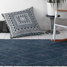 Large Navy Blue Moroccan Rug Super Soft Bedsides Lounges Floor Carpet 190*280CM