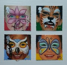 Complete GB used stamp set - 2001 New Millennium Face Paintings