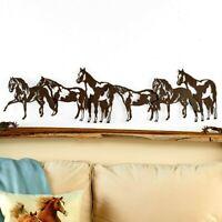 Silhouette Horse Rustic Metal Hanging Wall Art Western Indoor/Outdoor Sculpture