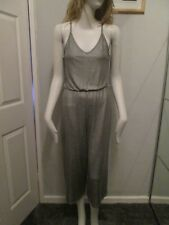 Atmosphere -  Silver Grey,V-neck, Spaghetti Strap, Cropped leg Jumpsuit Size 8