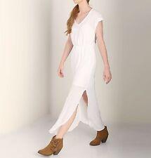 SPLENDID SIZE LARGE SHORT SLEEVE V-NECK WHITE MAXI DRESS 291