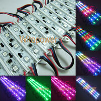 20pcs WS2811 5050 RGB LED Module 3 SMD Digital Full Color Light Waterproof 12V