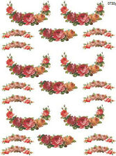 VinTaGe IMaGe FLoRaL WReaTh SWaGs WaTerSLiDe DeCALs *ShaBby*