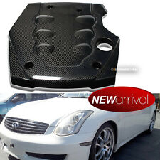 For: 03 04 05 06 07 G35 Coupe / Sedan Real Carbon Fiber Engine Cover