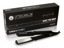 "Royale Wet to Dry Black-Rubber Flat Iron / Hair Straightener (1.5"") Special Sale"