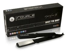 "Royale Wet to Dry Black-Rubber Flat Iron / Hair Straightener (1.5"")"