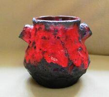 Fat Lava Vase Roth Ära; Rot/Schwarz bauchig