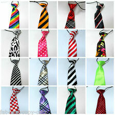 30+ BOYS UNISEX NOVELTY SATIN FASHION ELASTIC WEDDING PROM SCHOOL BOW NECK TIES
