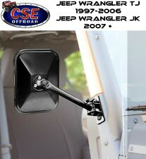 Rectangular Black Quick Release Mirror Jeep Wrangler TJ JK 1997-17 11025.13