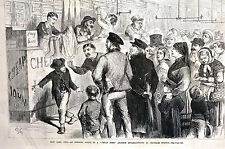 Cheap John Auction House CHATHAM STREET NYC AUCTIONEER 1873 Engraving Matted