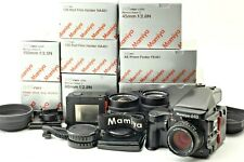ALL MINT IN BOX Mamiya 645 Pro TL/ C 45 80 150mm N 3 Lenses/ 2Holder/ grip JAPAN
