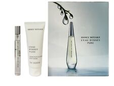 Gift Set Issey Miyake L'eau D'issey Pure EDP Perfume 10ml Body Cream 75ml Woman