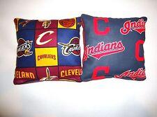 8 Cornhole Bean Bag Toss Set Cavs Cleveland Cavaliers and Cleveland Indians