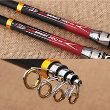Hot 2.1M/6.97ft Pro Carbon Fiber Telescope Fishing Rod Spinning Pole Expand