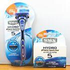 Schick Hydro 5 Premium NEW IMPROVED Shaver- Razor  2 refill Cartridges Blades