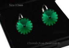 925 Sterling Silver Earrings * Emerald * Rivoli Crystals from Swarovski®