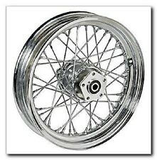 "40 SPOKE 16"" FRONT WHEEL 16 X 3 HARLEY SOFTAIL FLSTF FAT BOY FLSTN DELUXE 00-06"