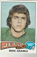FREE SHIPPING-MINT-1975 Topps New York Jets #307 Mike Adamle JETS