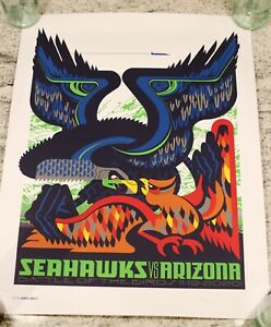 Seattle Seahawks v. Arizona Cardinals GameDay Poster Limited Edition 170 of 315