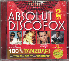 ABSOLUT DISCOFOX 100% TANZBAR ! - 2 CD COMPILATION NEW AND SEALED