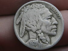 1921 P Buffalo Nickel 5 Cent Piece- Fine/VF Details, Partial Horn
