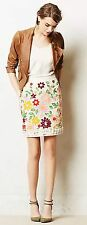 Anthropologie Ayaka Embroidered Skirt Size 6 by Maeve Never Worn