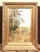 Antique Vintage 19C Russian Pichugin Z. Пичугин Oil/Canvas Landscape Painting