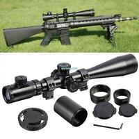 Tactical Rifle Scope 6-24x50 Mil Dot IR Red illuminated Reticle Hunting w/ Mount