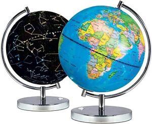 Science Kidz 2 in 1 Illuminated World Globes Children Lamp Light Up Night View