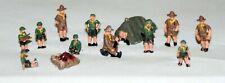 Cub Scouts Camp People A114 UNPAINTED N Gauge Scale Langley Models Kit Figures