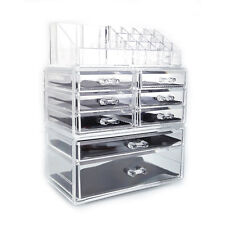 Acrylic Cosmetic Table Organizer Makeup Holder Case Box Jewelry Storage 8 D