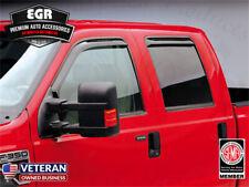 DGWV2-163 Outside Mount Deflector Rain Guard Dark Smoke Tuningpros Window Visor Compatible With 1997-2003 Ford F-150 SuperCab//Extended Cab 4 Pcs Set