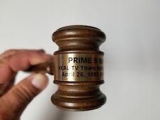 Vintage Wood Gavel Lawyer Auction KCAL TV Town Hall 1993 Prime 9 News RARE
