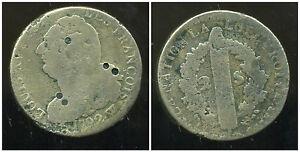 LOUIS XVI  2 sols 1792 W