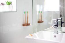 Wall Mounted Woodern Toothbrush Holder