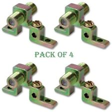 4x Coax Coaxial Grounding Block RG6 F81 1GHz TV Cable Satellite Antena