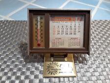Vintage Weatherite Desk Calandar And Thermometer MORCO 1984