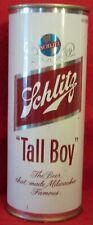 """Schlitz Beer Can Bank ~ Tall Boy ~ 3/4 Of A Quart ~ @ 1960 ~ 7 1/2"""" Tall"""