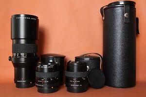 set of Zeiss PRAKTICAR 1.4/50mm,PRAKTICAR 2.4/35mm,PRAKTICA 4/300 PB bayonet