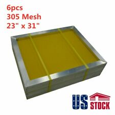 6pcs 23 X 31 Aluminum Frame Silk Screen Printing Screens 305 Mesh Usa