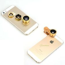 New Fisheye+Wide Angle+Marco Lens Camera Kit w Clip for iPhone 6 6P 4S 5 5S 5C